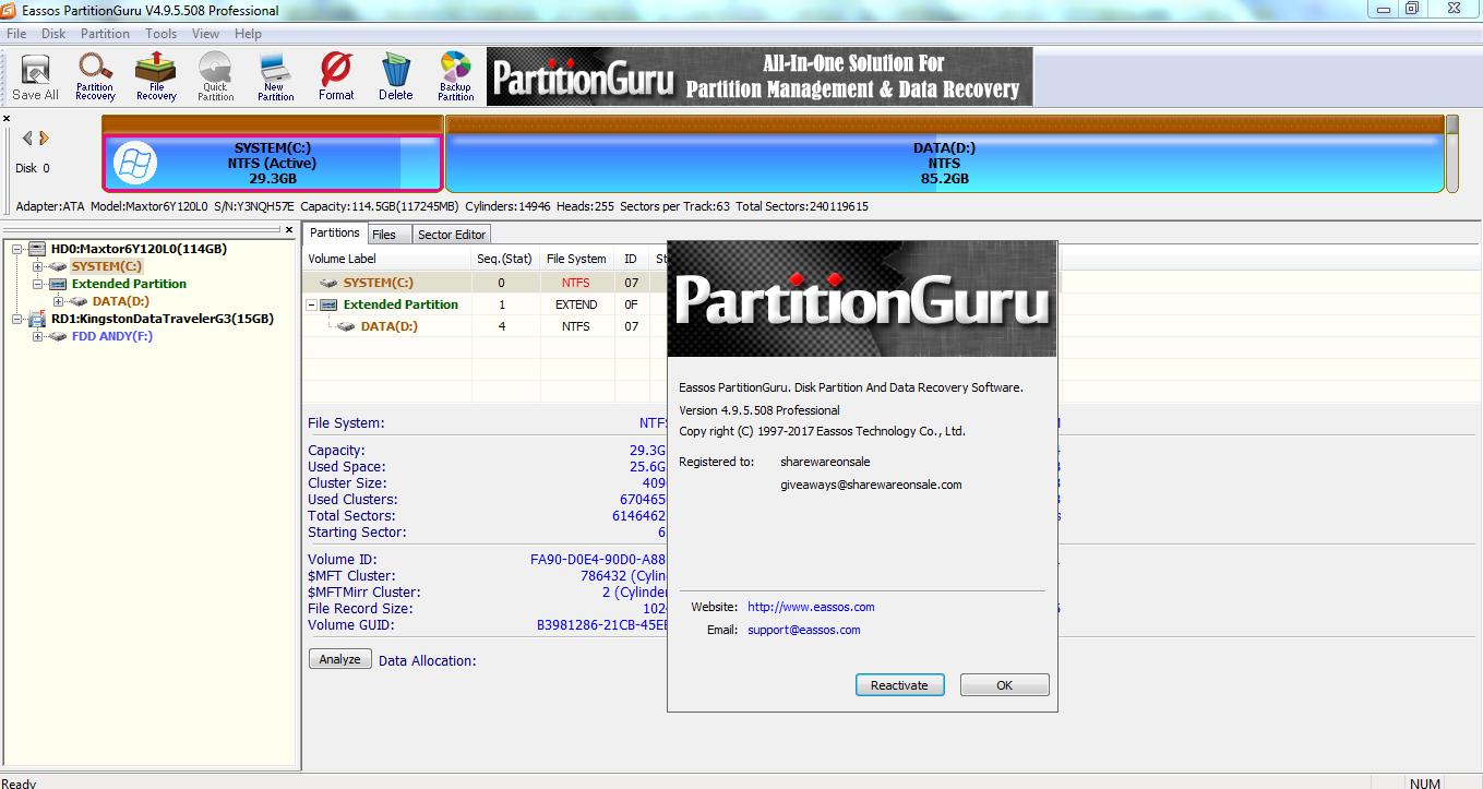 partitionguru pro 4.9.5.508