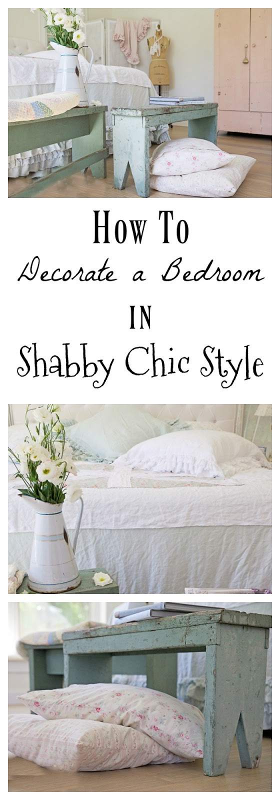 how to decorate a bedroom in shabby chic style