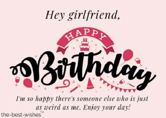 happy birthday wishes for girlfriend