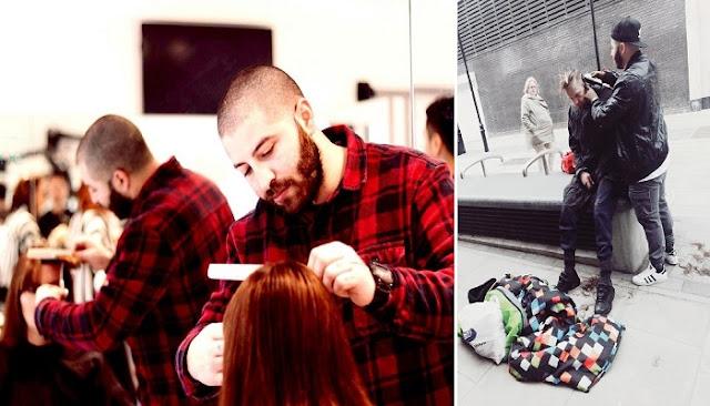 Κύπριος φοιτητής κουρεύει αφιλοκερδώς άστεγους στο Λονδίνο