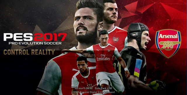 PES 2017 Start Screen for PES 2016