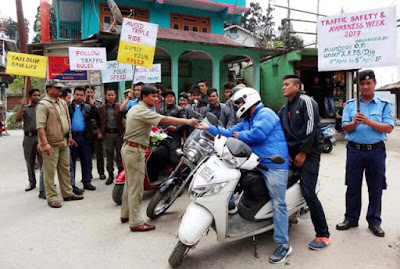Traffic safety awarness week by mungpoo police