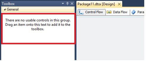 Prashant Rathod: empty toolbox in ssis, there are no usable