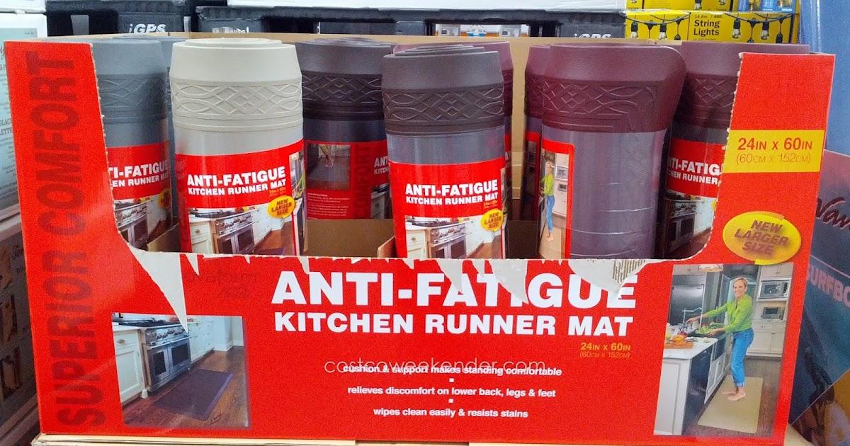 Novaform Anti Fatigue Kitchen Mat And Bathroom Window Curtains Home Anti-fatigue Runner   Costco ...