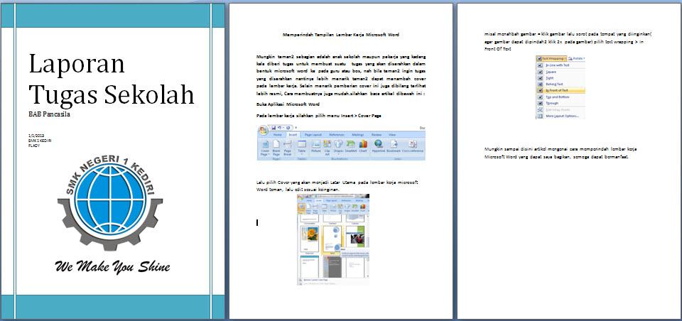 Cara Mempercantik Tampilan Microsoft Word Dengan Cover Page