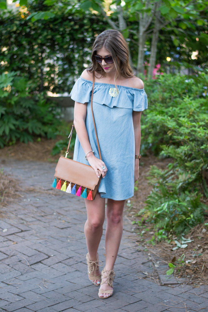 Chambray dress in Charleston, SC