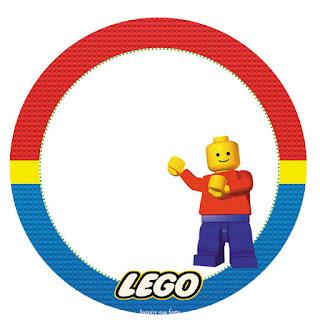 Toppers o Etiquetas de Fiesta de Lego para imprimir gratis.