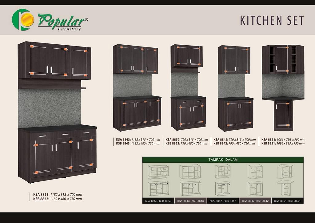 kitchen set dengan meja makan 2