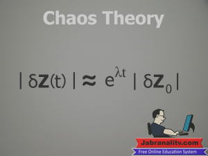 Top 10 Mathematical Equations That Changed The World-Chaos-Theory