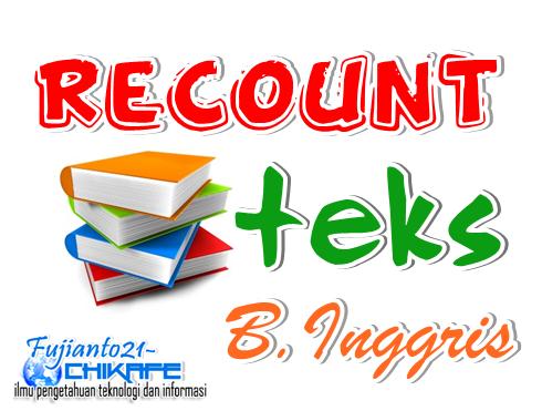 5 Contoh Singkat Recount Text Bahasa Inggris Fujianto21 Chikafe