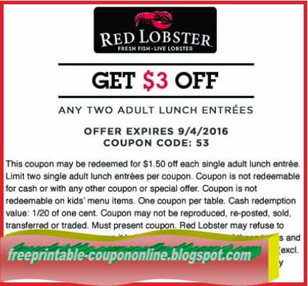 Printable Coupons 2018: Red Lobster Coupons
