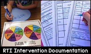 Use these RTI papers to help you keep track of your interventions with your students.