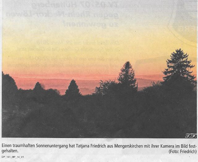 Bild Sonnenuntergang Mengerskirchen