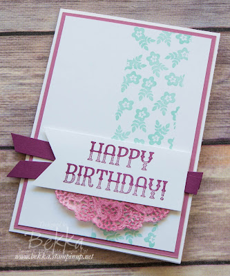 Birthday Card using Window Shop from Stampin' Up! UK - available to purchase here from 4 January 2017