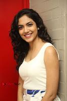 Actress Ritu Varma Stills in White Floral Short Dress at Kesava Movie Success Meet .COM 0105.JPG