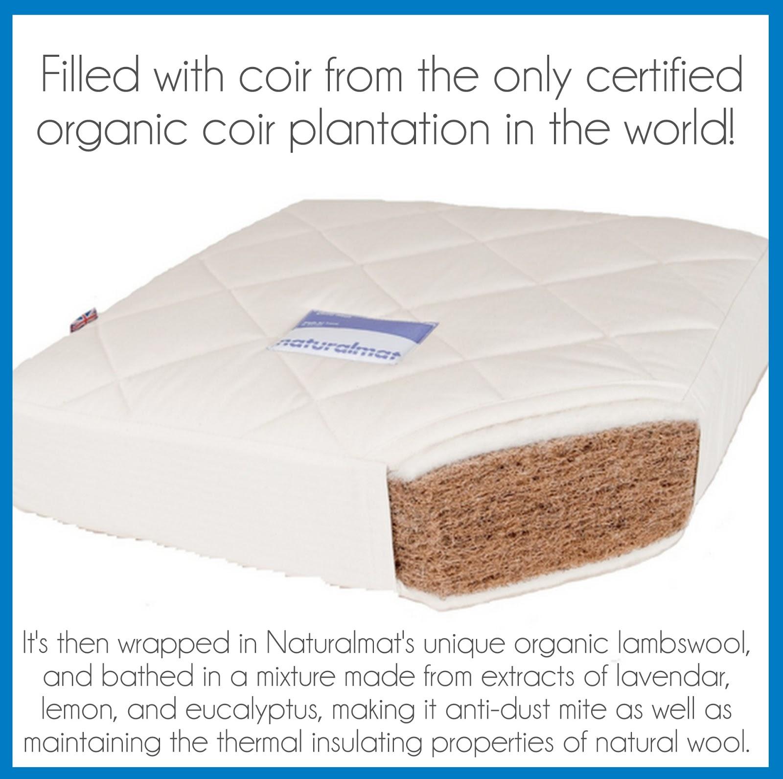 Naturalmat Coco Mat Organic Crib Mattress Giveaway