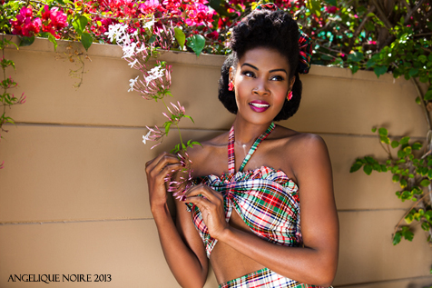Angelique Norie, black pinup, Natural hair pinup, Natural pinup hairstyles for black women, pinup life, the black pinup, Theblackpinup,