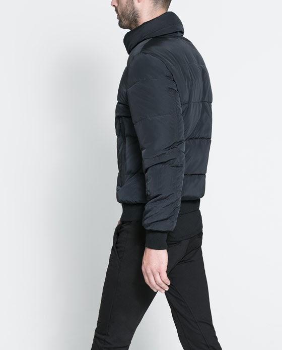 6 Moda Zara Jackets 2014 For Men Basic Puffer Jacket
