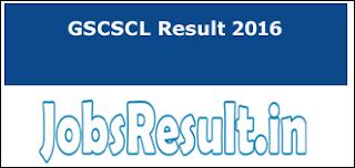 GSCSCL Result 2016