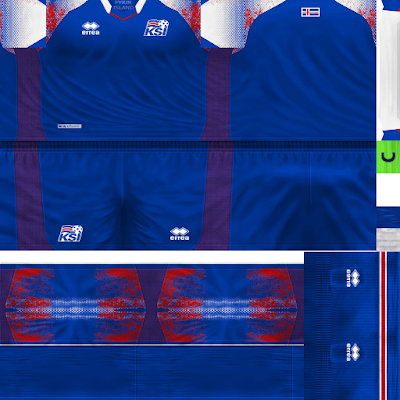 PES 6 Kits Iceland National Team World Cup 2018 by Dibu Edition