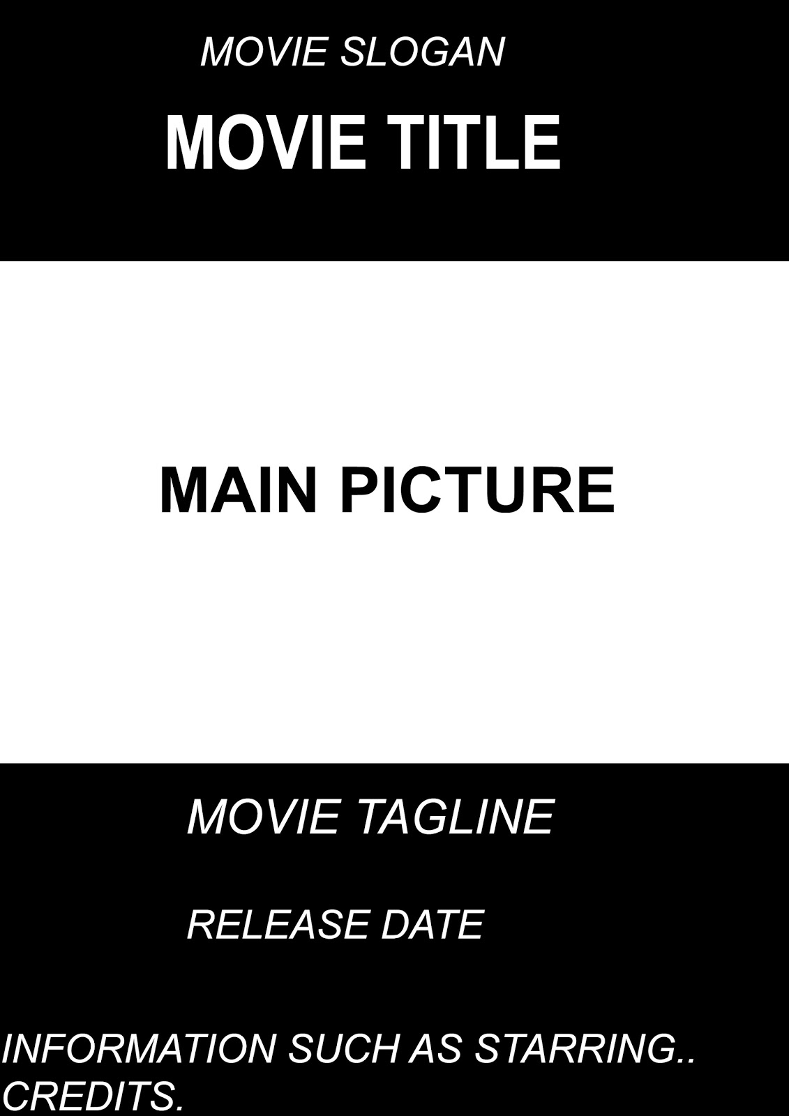 movie poster credits template free - dorable movie credits format template gift example