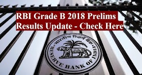 RBI Grade B 2018 Prelims Results Update - Check Here