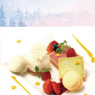 ☆冬の流星プレート★~苺とピスタチオの生チョコタルト仕立て~