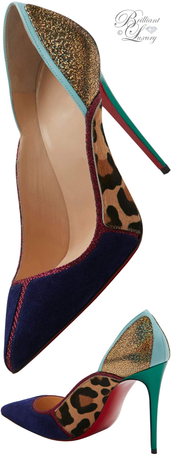 Brilliant Luxury ♦ Christian Louboutin Serianina Pointed-Toe Red Sole Pump
