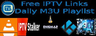 Free Daily M3U Playlist 2 January 2018