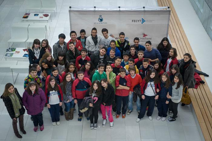 Eficientic Hoy Estuvieron Con Nosotros El Colegio Quiñones De León E Ies Valadares De Vigo