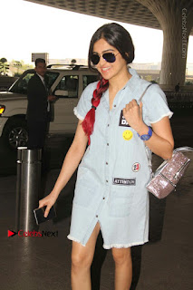 Bollywood Actress Model Adah Sharma Spotted at the Airport in a Denim Dress  0003.jpg