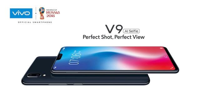 Harga dan Spesifikasi Smartphone Vivo V9 dengan Kamera Selfie 24 Megapixel