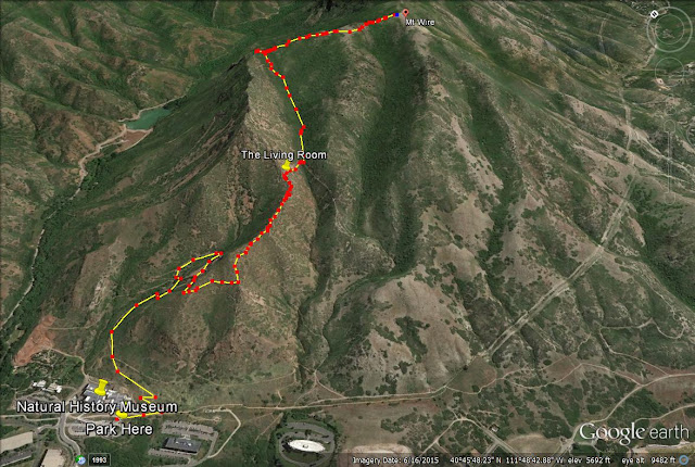 Mt. Wire trail map, Mount Wire trail map, Utah
