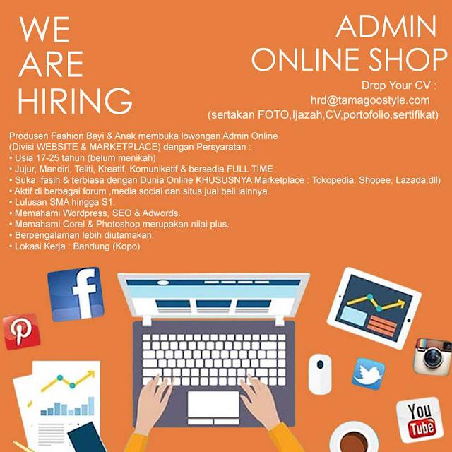 Lowongan Kerja Admin Online Shop