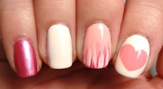 Pink Stripe Nail
