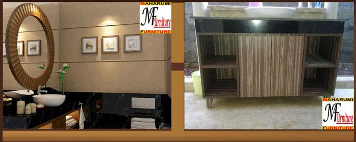 Custom Setting Interior Furniture Bathroom and Wastafel