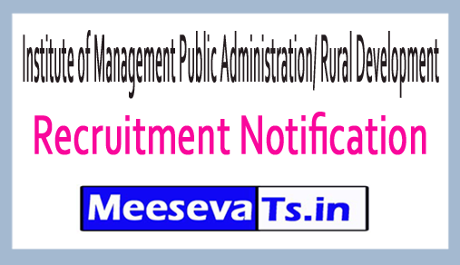 Institute of Management Public Administration/ Rural Development IMPA / RD Recruitment