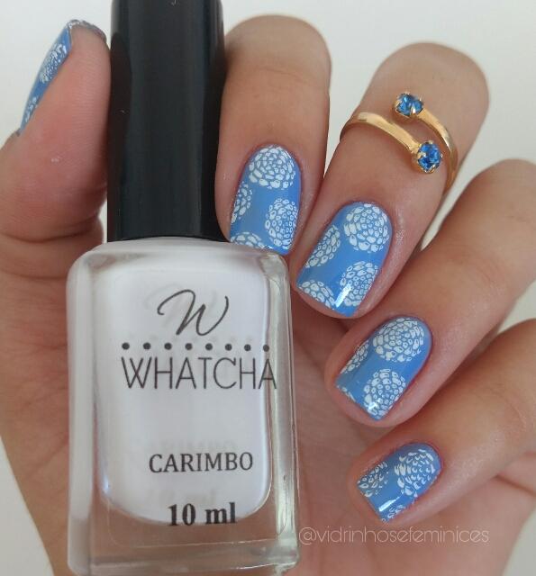 esmalte branco para carimbo - whatcha