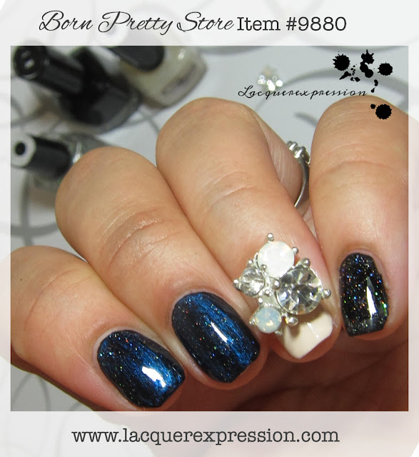 review substantial nail stud with rhinestones and opals item #9880 from Born Pretty Store