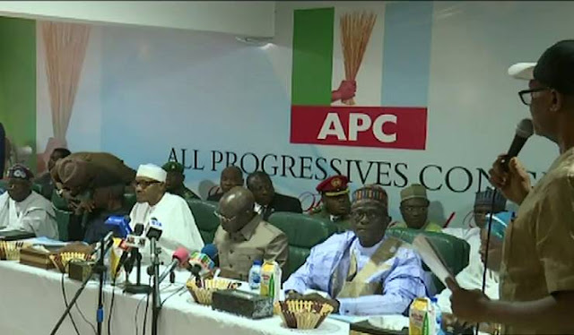 APC caucus meeting - Buhari spits fire, warns election riggers