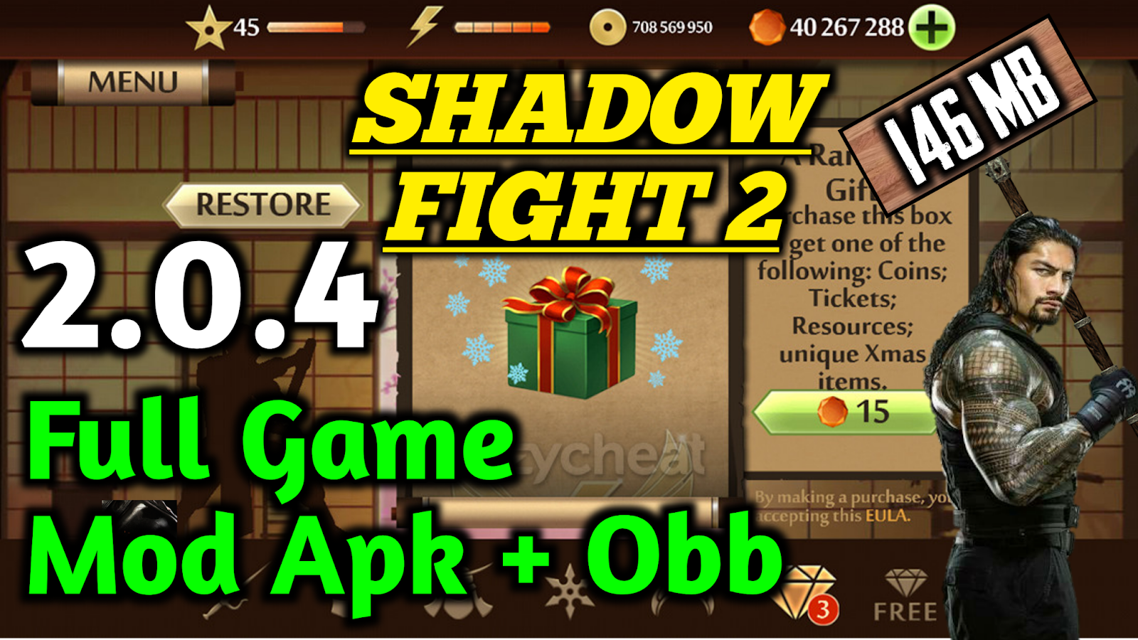 Shadow Fight 2   2 0 4 Mod Apk+Obb   Full Game   Unlimited