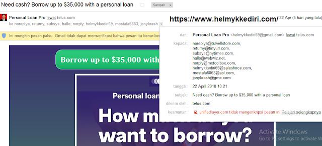 Akun gmail saya mengirim pesan otomatisa