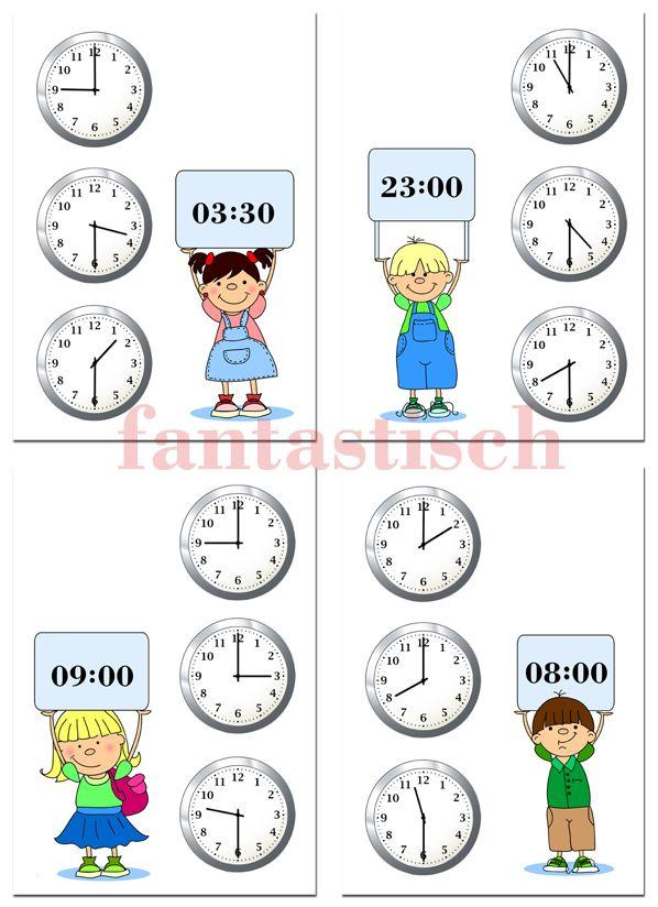 знакомство со стрелками часов