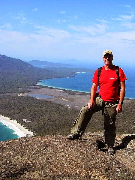 me at Wineglass Bay in Tasmania