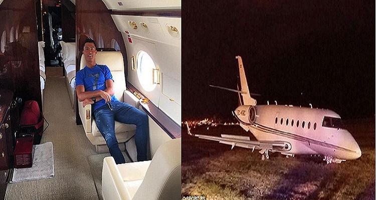 عاجل | شاهد ما حصل لـ كريستيانو رونالدو بعد أن اصطدمت طائرته بالأرض في برشلونة