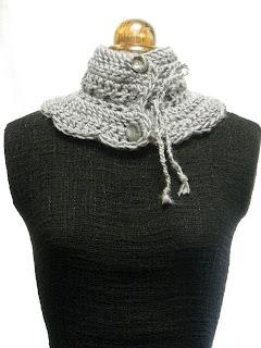 Cuello punto en tonos grises