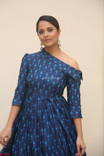Anchor Anasuya in a Blue Gown at Jai Lava Kusa Trailer Launch ~  Exclusive Celebrities Galleries 039.JPG