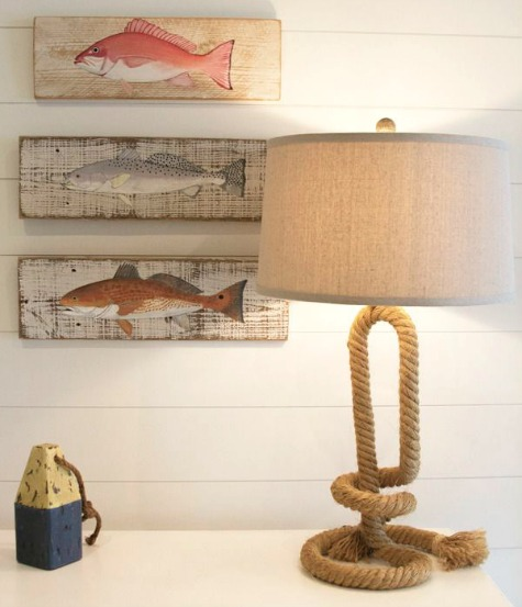 Rope Lamp Beach Cottage Decor