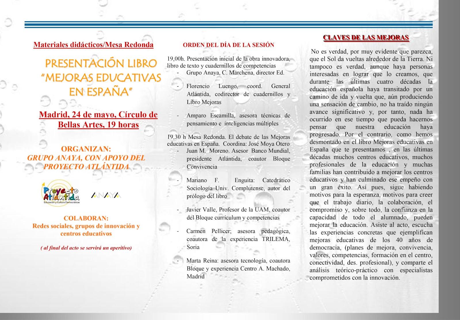MareaVerde: 24-5-2017: Presentación del libro \