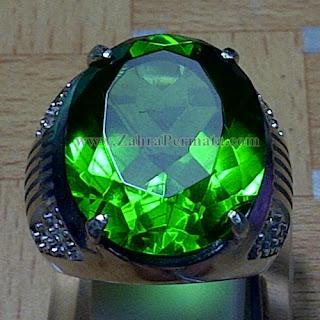 Cincin Batu Permata Green Tektite - ZP 918